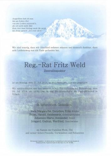 Reg.-Rat Fritz Weld