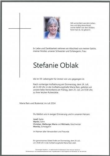 Stefanie Oblak
