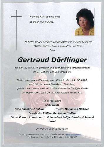 Gertraud Dörflinger