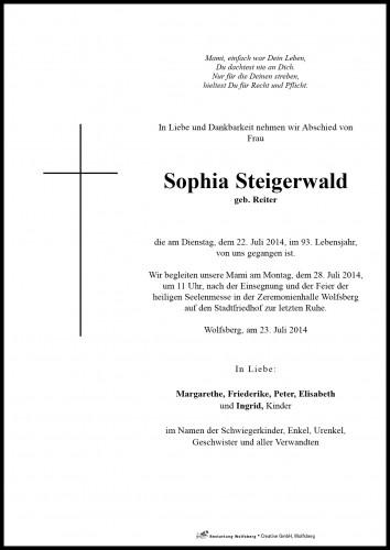Sophia Steigerwald
