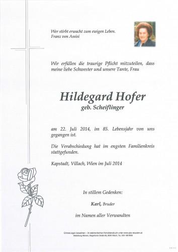 Hildegard Hofer