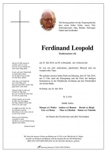 Ferdinand Leopold