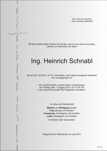Ing. Heinrich Schnabl