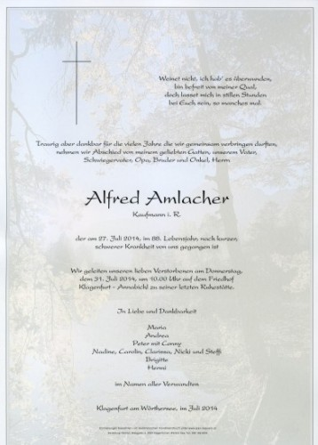 Alfred Amlacher