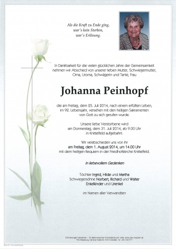 Johanna Peinhopf