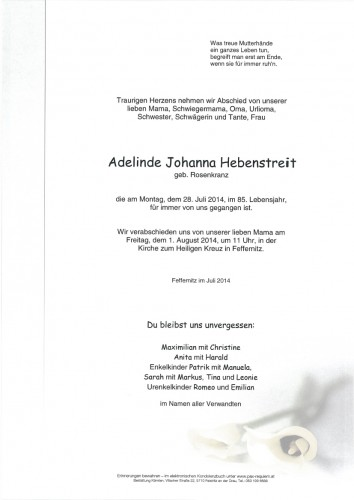 Adelinde Johanna Hebenstreit