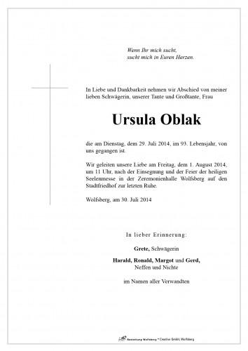 Ursula Oblak