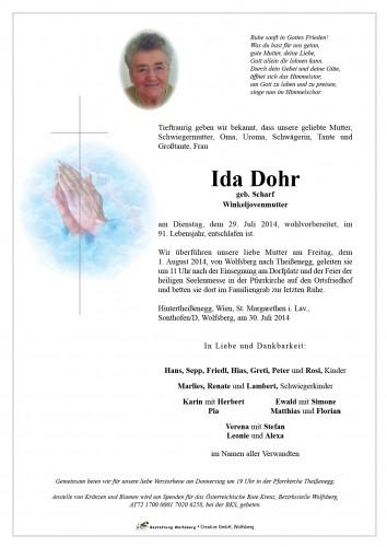 Ida Dohr