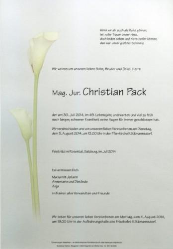 Christian Johann Josef Pack