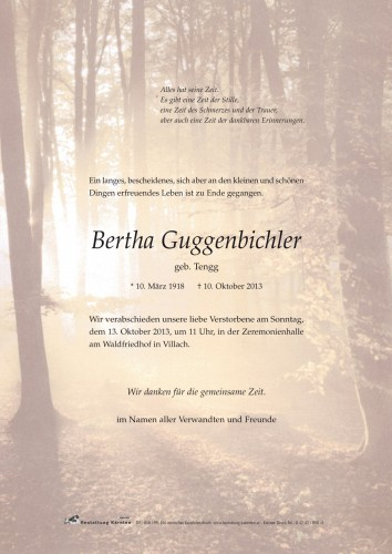 Bertha Guggenbichler