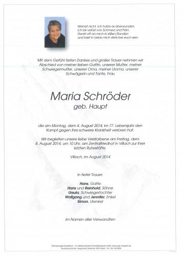 Maria Schröder geb. Haupt