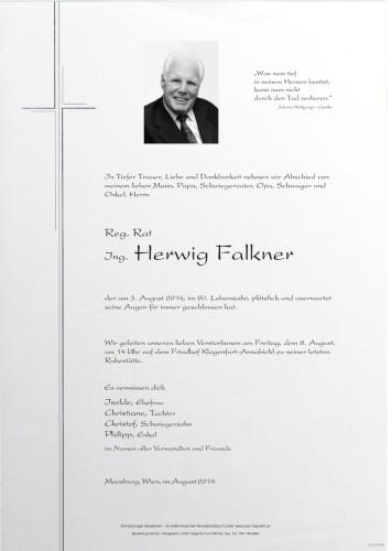 Reg.Rat Ing. Herwig Falkner