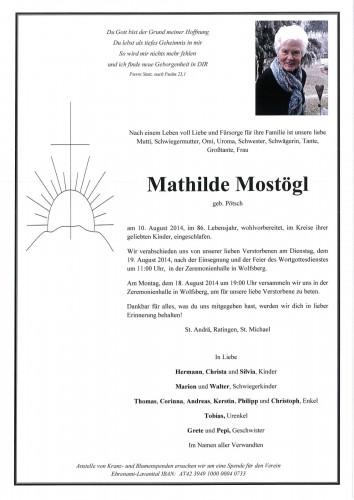 Mathilde Maria Mostögl