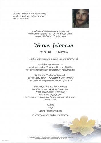 Werner Jelovcan