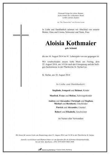Aloisia Kothmaier