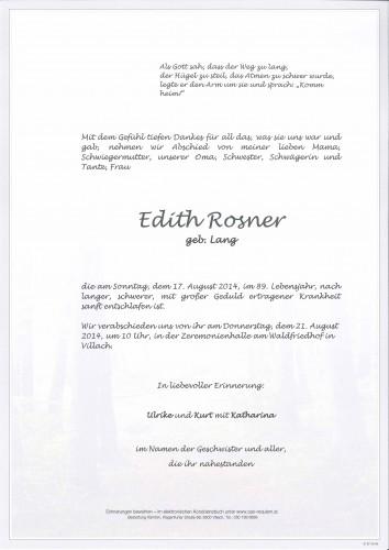 Edith Rosner