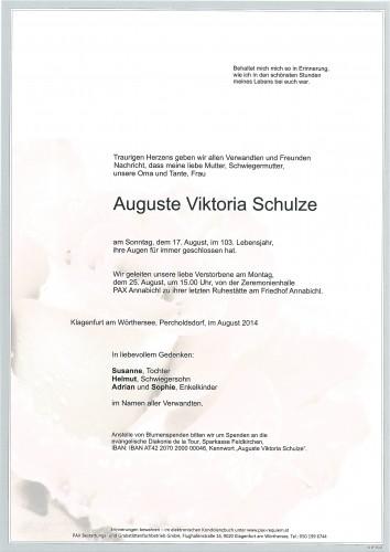 Auguste Viktoria Schulze