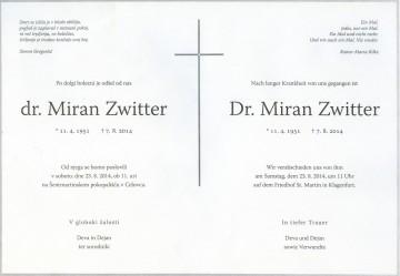 Dr. Miran Zwitter