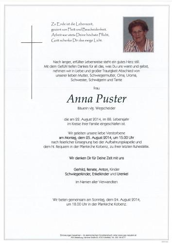 Anna Puster vlg. Wegscheider