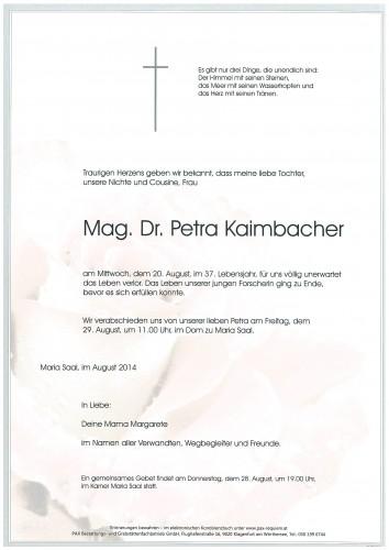 Mag. Dr. Petra Kaimbacher