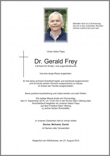 Dr. Gerald Frey