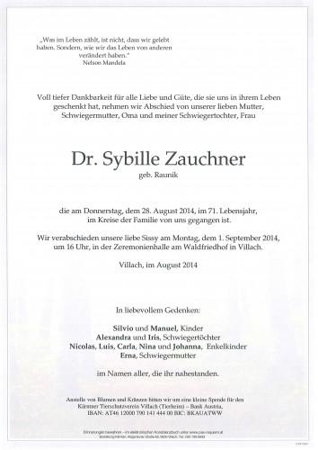 Dr. Sybille Zauchner geb . Raunik