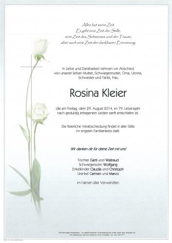 Rosina Kleier