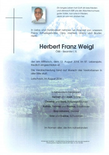 Herbert Franz Weigl