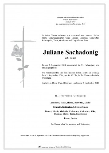 Juliane Sachadonig