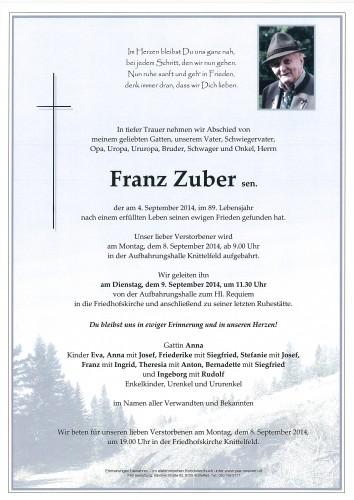 Franz Zuber sen.