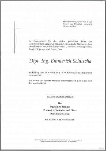 Emmerich Schuscha Dipl.Ing.