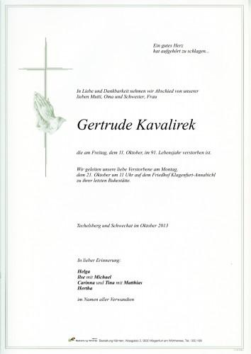 Gertrude Kavalirek