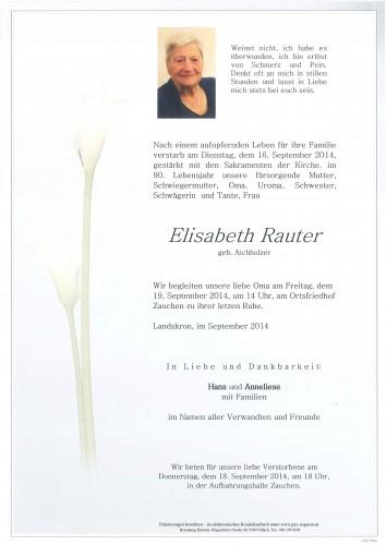 Elisabeth Rauter geb. Aichholzer