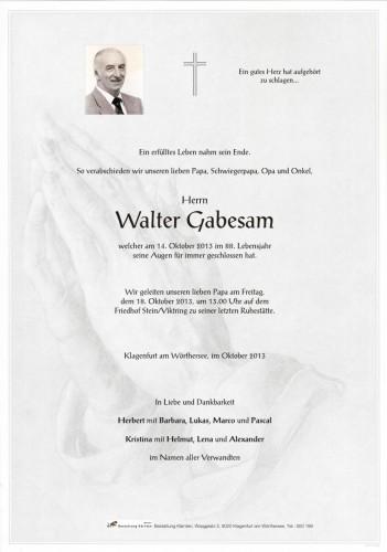 Walter Gabesam