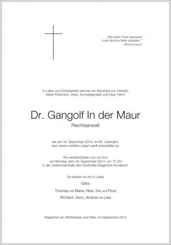 Dr. Gangolf In der Maur