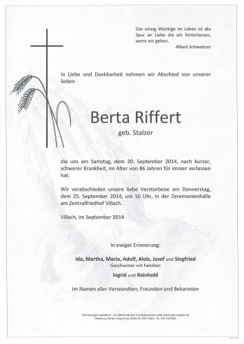 Berta Riffert