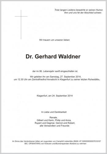 Dr. Gerhard Waldner