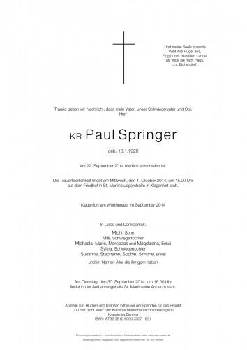 Springer Rudolf Paul