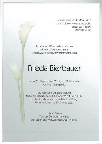 Frieda Bierbauer