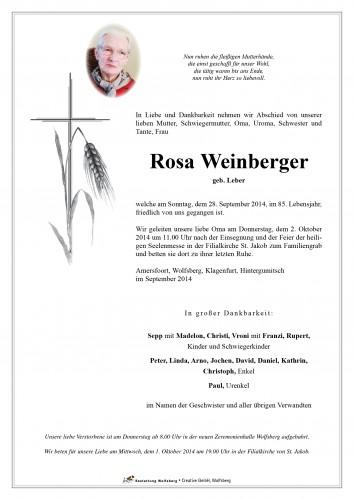 Rosa Weinberger