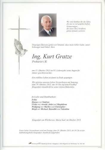 Ing. Kurt Gratze