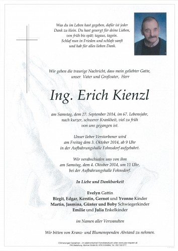 Ing. Erich Kienzl