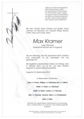 Max Kramer vulgo Fillemaxe