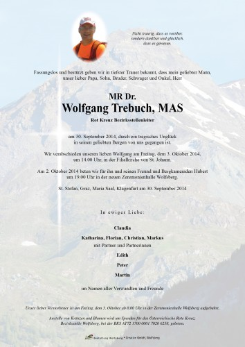 MR Dr. Wolfgang Trebuch, MAS