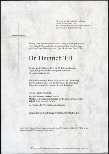 Dr. Heinrich Till
