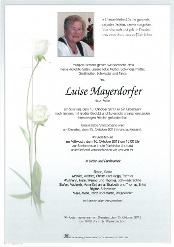 Luise Mayerdorfer