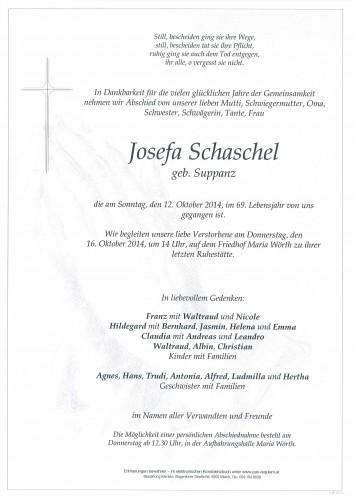 Josefa Schaschel geb. Suppanz