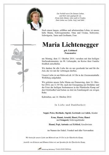 Maria Lichtenegger