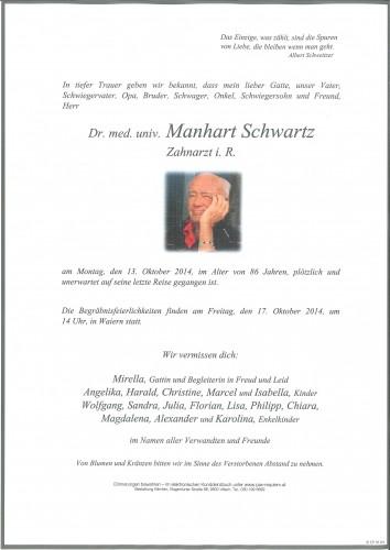 Dr. med. univ. Manhart Schwartz