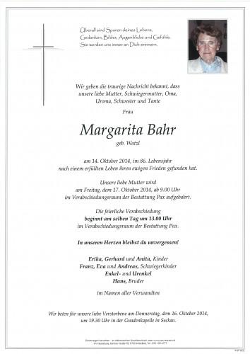 Margarita Bahr